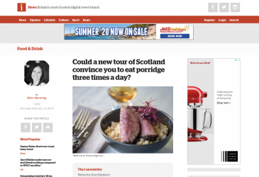 Could a new tour of Scotland convince you to eat porridge three times a day?