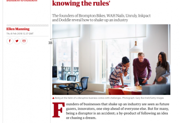 What makes you a disruptor? 'Not knowing the rules'