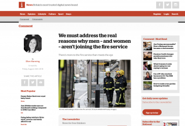 We must address the real reasons why men – and women – aren't joining the fire service
