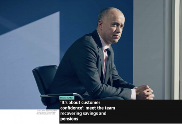 'It's about customer confidence': meet the team recovering savings and pensions
