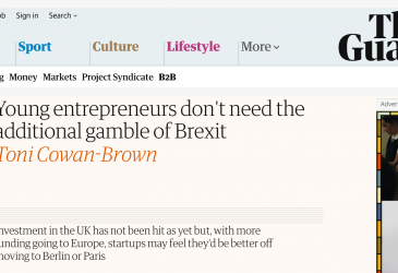 Young entrepreneurs don't need the additional gamble of Brexit