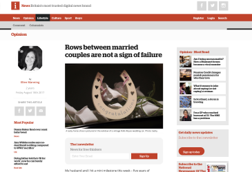 Rows between married couples are not a sign of failure