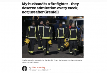 My husband is a firefighter – they deserve admiration every week, not just after Grenfell