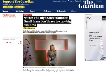 Not On The High Street founder: 'Small firms don't have to copy big business'