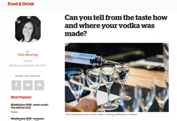 Can you tell from the taste how and where your vodka was made?