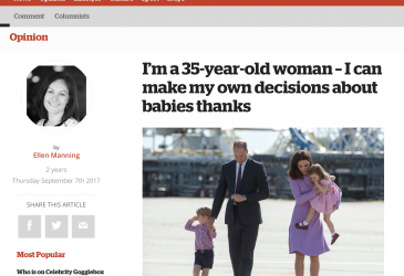 I'm a 35-year-old woman – I can make my own decisions about babies thanks