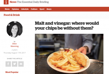 Malt and vinegar: where would your chips be without them?