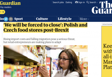 'We will be forced to close': Polish and Czech food stores post-Brexit