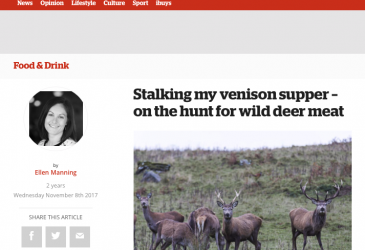Stalking my venison supper – on the hunt for wild deer meat
