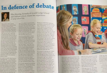 Prep school: In defence of debate