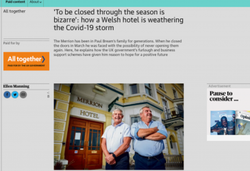 'To be closed through the season is bizarre'_ how a Welsh hotel is weathering the Covid-19 storm