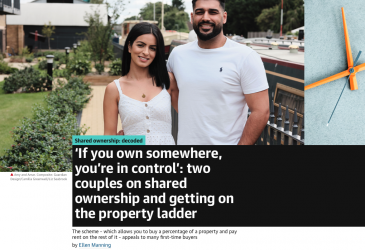 'If you own somewhere, you're in control': two couples on shared ownership and getting on the property ladder