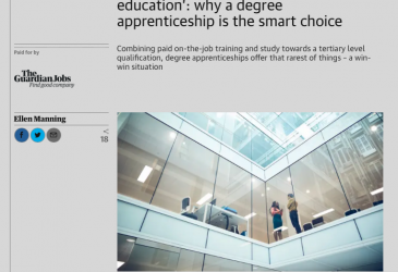 'Financial freedom and a university education' - why a degree apprenticeship is the smart choice